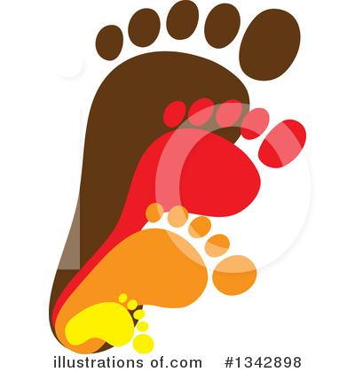 Footprint Clipart #1342898 by ColorMagic