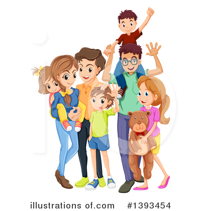 Family Clipart #1393454 by Graphics RF