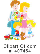 Family Clipart #1407454 by Alex Bannykh