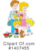 Royalty-Free (RF) Family Clipart Illustration #1407455