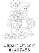 Family Clipart #1407456 by Alex Bannykh