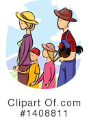 Royalty-Free (RF) Family Clipart Illustration #1408811