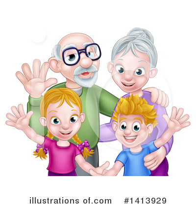 Children Clipart #1413929 by AtStockIllustration