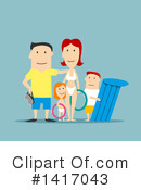 Family Clipart #1417043 by Vector Tradition SM