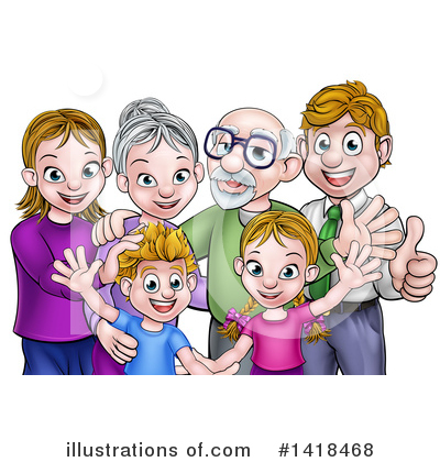 Royalty-Free (RF) Family Clipart Illustration by AtStockIllustration - Stock Sample #1418468