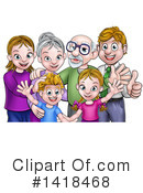 Family Clipart #1418468 by AtStockIllustration