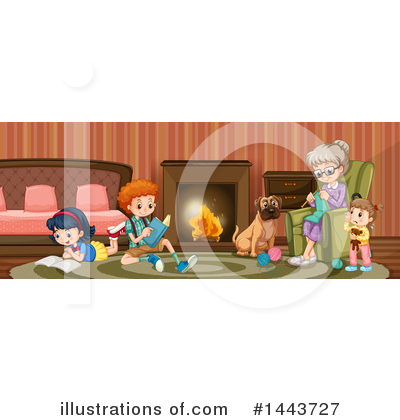 Fireplace Clipart #1443727 by Graphics RF