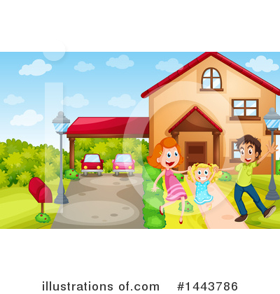 House Clipart #1443786 by Graphics RF