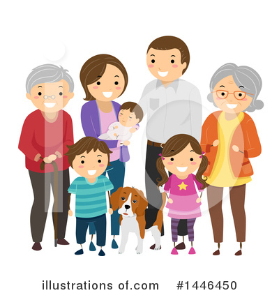 Royalty-Free (RF) Family Clipart Illustration by BNP Design Studio - Stock Sample #1446450