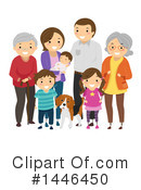Royalty-Free (RF) Family Clipart Illustration #1446450