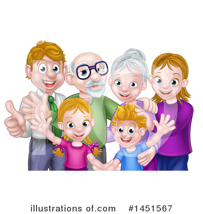 Family Clipart #1451567 by AtStockIllustration