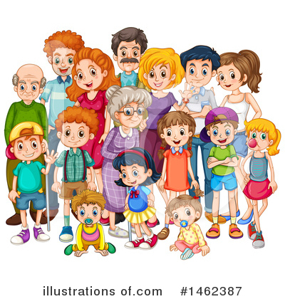 Royalty-Free (RF) Family Clipart Illustration by Graphics RF - Stock Sample #1462387