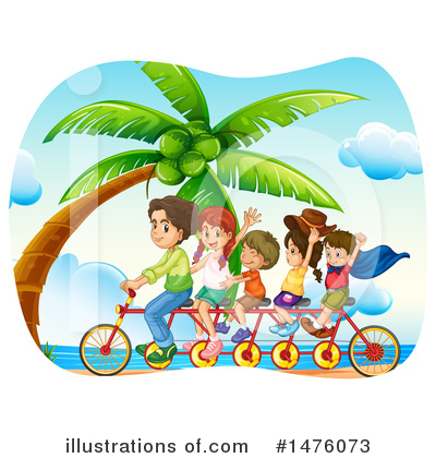 Tandem Bike Clipart #1476073 by Graphics RF