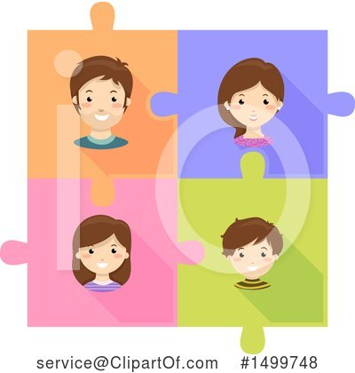 Puzzle Pieces Clipart #1499748 by BNP Design Studio