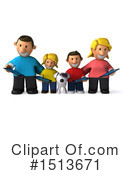 Royalty-Free (RF) Family Clipart Illustration #1513671