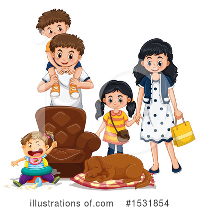 Family Clipart #1531854 by Graphics RF