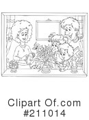 Royalty-Free (RF) Family Clipart Illustration #211014