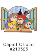 Royalty-Free (RF) Family Clipart Illustration #213525