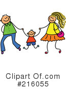 Royalty-Free (RF) Family Clipart Illustration #216055