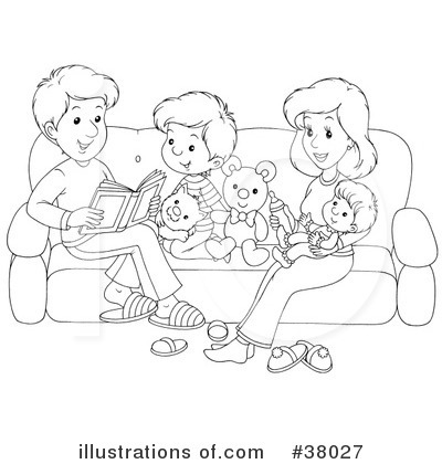 Family Clipart #38027 by Alex Bannykh | Royalty-Free (RF) Stock