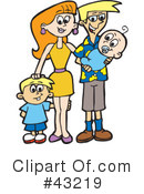 Royalty-Free (RF) Family Clipart Illustration #43219