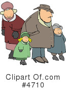 Royalty-Free (RF) Family Clipart Illustration #4710
