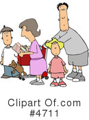 Royalty-Free (RF) Family Clipart Illustration #4711