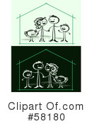 Royalty-Free (RF) Family Clipart Illustration #58180