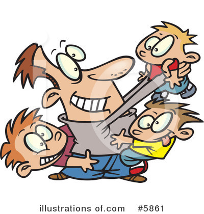 Family Clipart #5861 by Ron Leishman | Royalty-Free (RF) Stock Illustrations