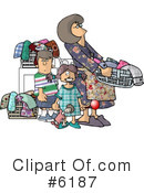 Royalty-Free (RF) Family Clipart Illustration #6187