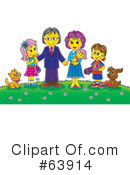 Royalty-Free (RF) Family Clipart Illustration #63914