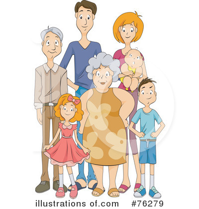 Royalty-Free (RF) Family Clipart Illustration by BNP Design Studio - Stock Sample #76279