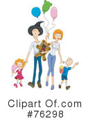 Royalty-Free (RF) Family Clipart Illustration #76298