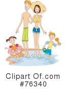 Royalty-Free (RF) Family Clipart Illustration #76340