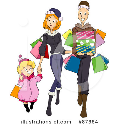 Christmas Shopping Clipart #87664 by BNP Design Studio