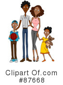 Royalty-Free (RF) Family Clipart Illustration #87668