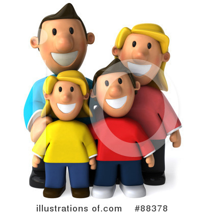 Royalty-Free (RF) Family Clipart Illustration by Julos - Stock Sample #88378