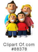 Royalty-Free (RF) Family Clipart Illustration #88378