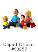Royalty-Free (RF) Family Clipart Illustration #90257