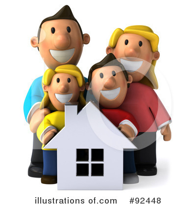 Royalty-Free (RF) Family Clipart Illustration by Julos - Stock Sample #92448