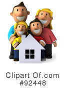 Royalty-Free (RF) Family Clipart Illustration #92448