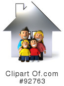 Royalty-Free (RF) Family Clipart Illustration #92763