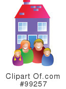 Royalty-Free (RF) Family Clipart Illustration #99257