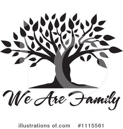 Royalty-Free (RF) Family Tree Clipart Illustration by Johnny Sajem - Stock Sample #1115561