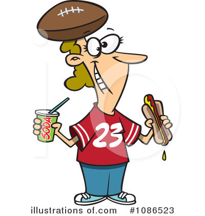 Football Clipart #1086523 by toonaday