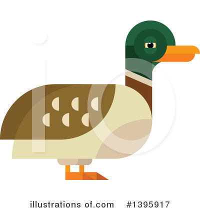 Duck Clipart #1395917 by Vector Tradition SM