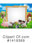Farm Animal Clipart #1419369 by AtStockIllustration