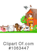 Royalty-Free (RF) Farm Animals Clipart Illustration #1063447