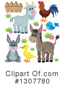 Royalty-Free (RF) Farm Animals Clipart Illustration #1307780