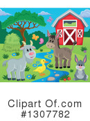 Farm Animals Clipart #1307782 by visekart